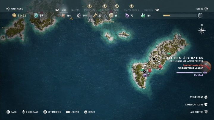 How to start: Speak with Markos - Side Quests on Southern Sporades in Assassins Creed Odyssey - Side Quests - Assassins Creed Odyssey Guide