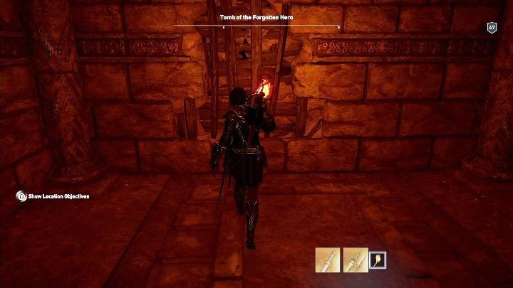 Walkthrough: To enter the tomb, youll need to break a hole in the wall that has been boarded up - Lakonia - Tombs in Assassins Creed Odyssey - Tombs - Assassins Creed Odyssey Guide
