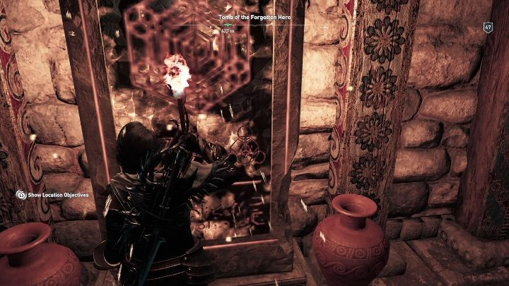 In the room with the stele, you will encounter numerous snakes - Lakonia - Tombs in Assassins Creed Odyssey - Tombs - Assassins Creed Odyssey Guide