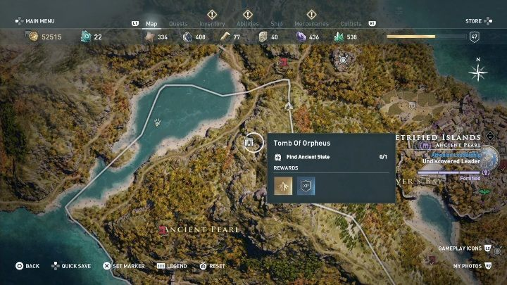 Location of the tomb: Central part of Lesbos - Petrified Islands - Tombs in Assassins Creed Odyssey - Tombs - Assassins Creed Odyssey Guide