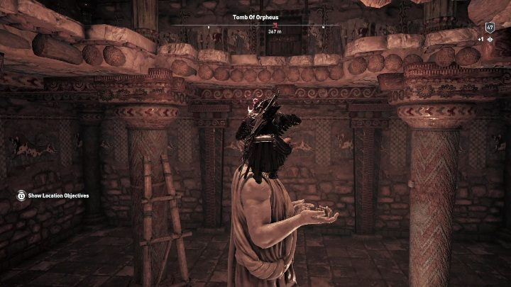 Walkthrough: After you enter the tomb, you will see a large statue - Petrified Islands - Tombs in Assassins Creed Odyssey - Tombs - Assassins Creed Odyssey Guide