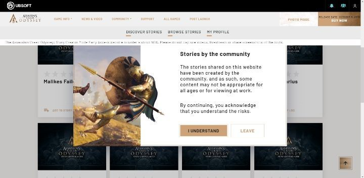 1 - Basic information about Assassins Creed Odyssey Story Creator Mode - Story Creator Mode - Assassins Creed Odyssey Guide