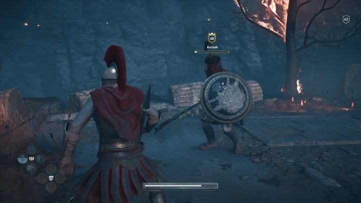 You are facing a fight with Kurush, one of Xerxes emissaries - Prologue - Assassins Creed Odyssey Walkthrough - Main Storyline - Assassins Creed Odyssey Guide