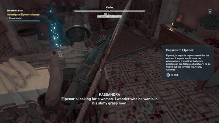 Its time to inform Elpenor about the effects of our expedition - The Wolf and the Snake - Assassins Creed Odyssey Walkthrough - Main Storyline - Assassins Creed Odyssey Guide