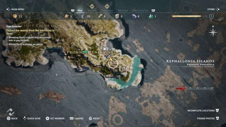 1 - Kephallonia Islands - Side Quests in Assassins Creed Odyssey - Side Quests - Assassins Creed Odyssey Guide