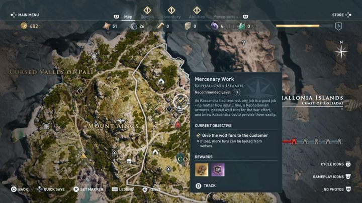 Mission start: Information board near the town of Sami - Kephallonia Islands - Side Quests in Assassins Creed Odyssey - Side Quests - Assassins Creed Odyssey Guide