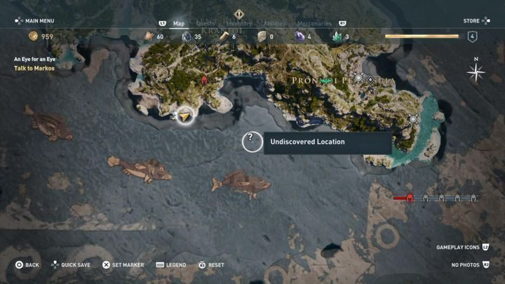 Underwater treasure with the necklace. - Kephallonia Islands - Side Quests in Assassins Creed Odyssey - Side Quests - Assassins Creed Odyssey Guide
