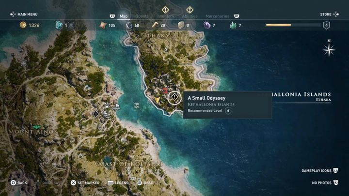 Mission start: Save the woman in the cage on Ithaka - Kephallonia Islands - Side Quests in Assassins Creed Odyssey - Side Quests - Assassins Creed Odyssey Guide