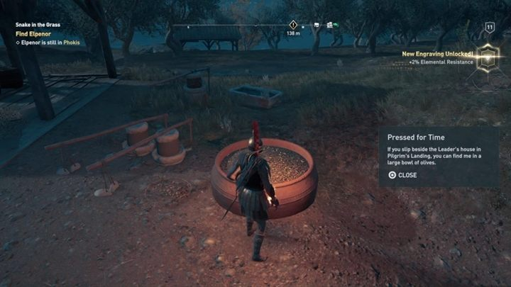 How to solve: You will find this item not far from a large oil pitcher, close to the leaders house - Phokis - Side Quests in Assassins Creed Odyssey - Side Quests - Assassins Creed Odyssey Guide