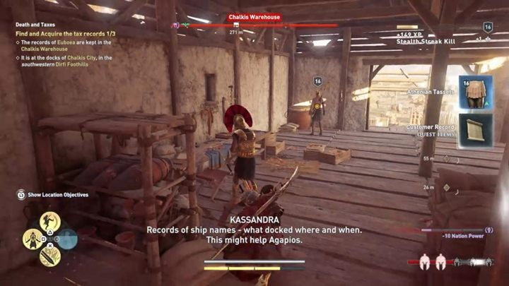 Description: This time you need to get tax records - Abantis Islands - Side Quests in Assassins Creed Odyssey - Side Quests - Assassins Creed Odyssey Guide