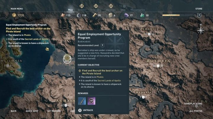 Your new quest is to reach a small island where you have to deal with a group of bandits - The Wolf Hunt - Assassins Creed Odyssey Walkthrough - Main Storyline - Assassins Creed Odyssey Guide
