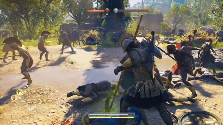 The battlefield is rather big - The Wolf Hunt - Assassins Creed Odyssey Walkthrough - Main Storyline - Assassins Creed Odyssey Guide