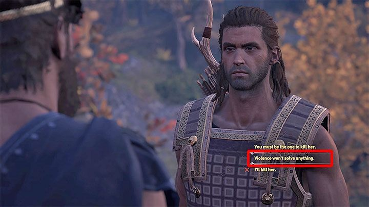 Lykaon appears during your conversation with Praxithea, right after you save her - Lykaon - Romances in Assassins Creed Odyssey - Romances - Assassins Creed Odyssey Guide