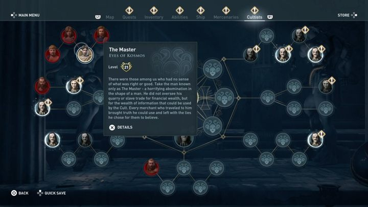 2 - The Eyes of Kosmos - Kosmos Cultists in Assassins Creed Odyssey - Kosmos Cultists - Assassins Creed Odyssey Guide