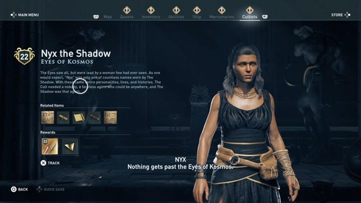 5 - The Eyes of Kosmos - Kosmos Cultists in Assassins Creed Odyssey - Kosmos Cultists - Assassins Creed Odyssey Guide