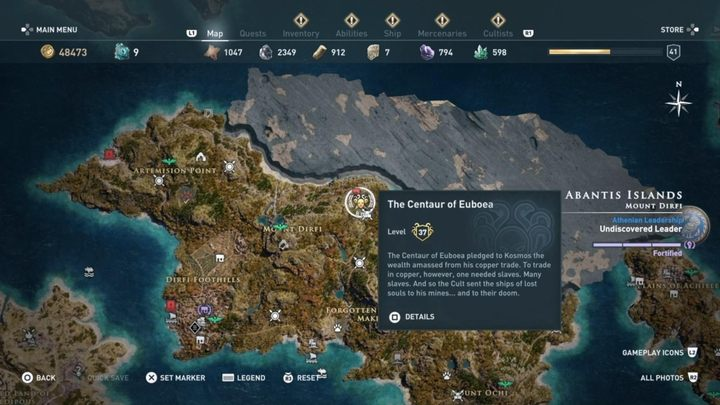 Where to find it - Silver Vein - Kosmos Cultists in Assassins Creed Odyssey - Kosmos Cultists - Assassins Creed Odyssey Guide