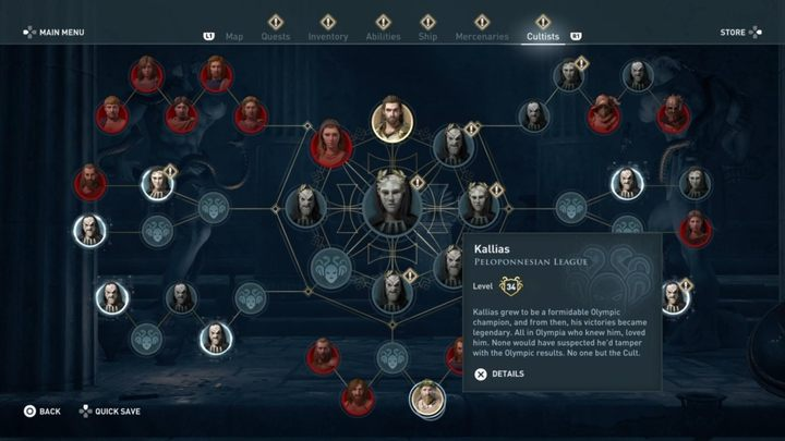 1 - Peloponnesian League Cultists - Kosmos Cultists in Assassins Creed Odyssey - Kosmos Cultists - Assassins Creed Odyssey Guide