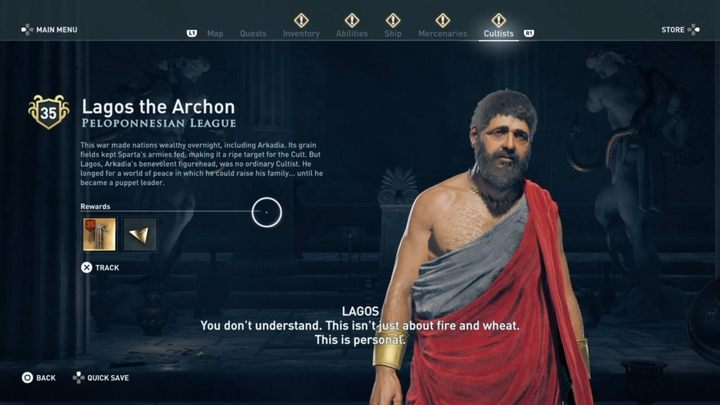 Where to find him - Peloponnesian League Cultists - Kosmos Cultists in Assassins Creed Odyssey - Kosmos Cultists - Assassins Creed Odyssey Guide