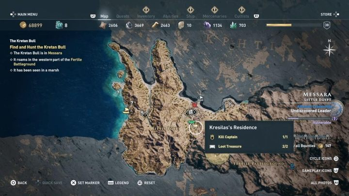 Where to find him - Worshippers of the Bloodline - Kosmos Cultists in Assassins Creed Odyssey - Kosmos Cultists - Assassins Creed Odyssey Guide