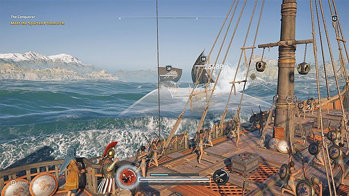 Pirate ships start fighting as soon as the heros ship is within their range - How you can recognize other ships on the sea in Assassins Creed Odyssey? - FAQ - Assassins Creed Odyssey Guide