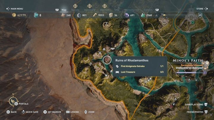 In Minoss Fate, youll find a single Ainigmata Ostraka - Fields of Elysium | Ainigmata Ostrakas in AC Odyssey Fate of Atlantis - Ainigmata Ostraka - Assassins Creed Odyssey Guide