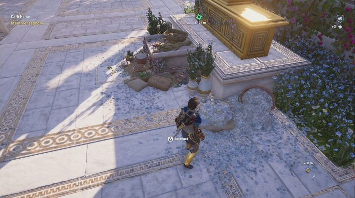 Solution to the puzzle: The solution can be found in Heart of Elysium, at the feet of the monument - Fields of Elysium | Ainigmata Ostrakas in AC Odyssey Fate of Atlantis - Ainigmata Ostraka - Assassins Creed Odyssey Guide