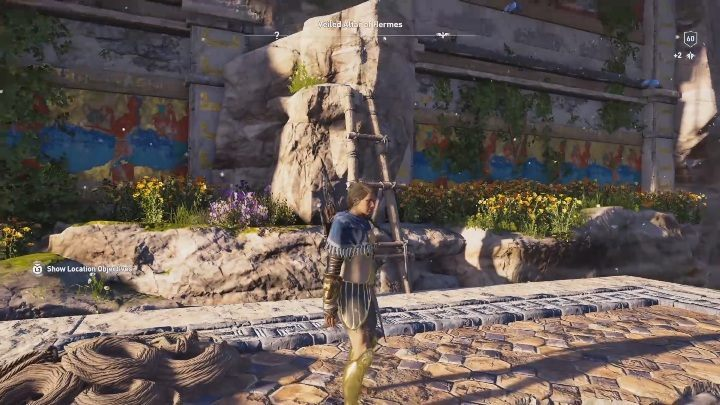 Once you get to the top of the building, continue climbing - Veiled Altar of Hermes | Perception of Hermes missions in AC Odyssey - Perception of Hermes - Assassins Creed Odyssey Guide