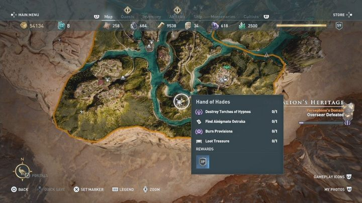 In Deukalions Heritage, there is a single Ainigmata Ostraka - Deukalions Heritage | Fields of Elysium maps and atlas - Episode 1 - Fields of Elysium - Assassins Creed Odyssey Guide