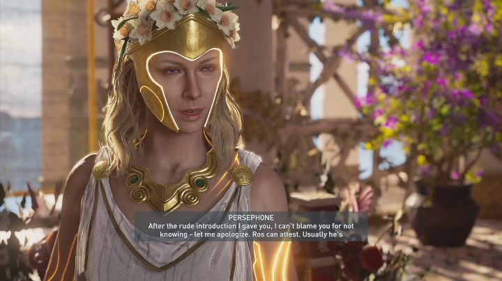 Your next move will be to go to Persephone and talk to her about the Dark Horse - Meet Your Makers & The Keeper and Key Maker | Fate of Atlantis walkthrough - Episode 1 - Fields of Elysium - Assassins Creed Odyssey Guide