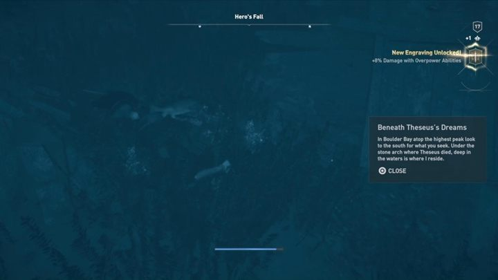 How to solve: Get to the Heros Fall and jump down - Abantis Islands - Ainigmata Ostraka in Assassins Creed Odyssey Game - Ainigmata Ostraka - Assassins Creed Odyssey Guide