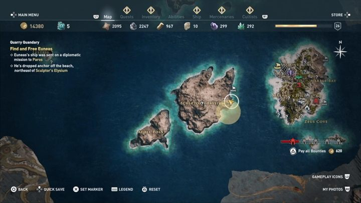 You must find Euneass ship - Paradise Lost - Assassins Creed Odyssey Walkthrough - Main Storyline - Assassins Creed Odyssey Guide