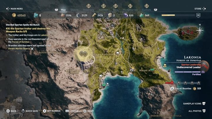 Track down the Spartan traitor and destroy 5 weapon racks - Home is where my mother is - Assassins Creed Odyssey Walkthrough - Main Storyline - Assassins Creed Odyssey Guide