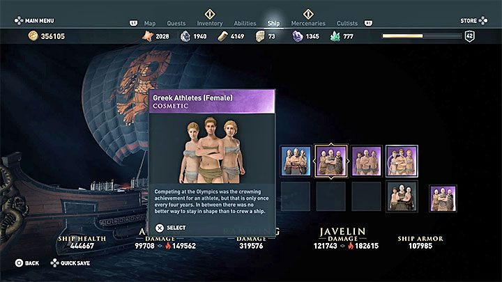 By default, you do not have a female crew - Wrath of the Amazons - Assassins Creed Odyssey Trophy guide - Trophy Guide - Assassins Creed Odyssey Guide