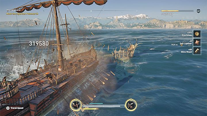 You can already go to the open waters and start hunting for other ships - Wrath of the Amazons - Assassins Creed Odyssey Trophy guide - Trophy Guide - Assassins Creed Odyssey Guide