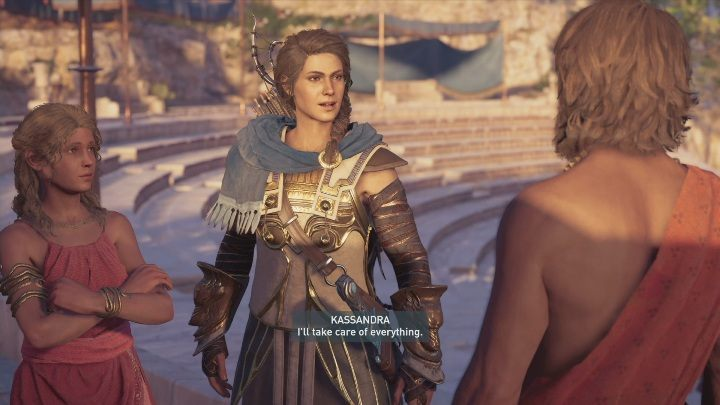 To begin the mission, you need to speak to Thespis - The Show Must Go On - Side Quests in Assassins Creed Odyssey - Free DLC Side Quests - Assassins Creed Odyssey Guide
