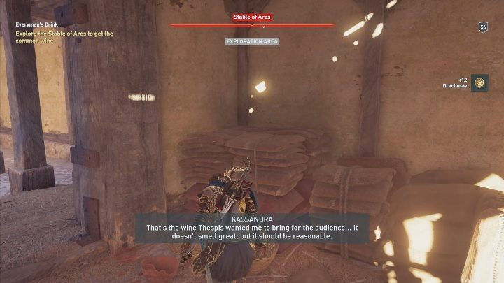 After talking to the man, you embark on a search for unique wine - The Show Must Go On - Side Quests in Assassins Creed Odyssey - Free DLC Side Quests - Assassins Creed Odyssey Guide