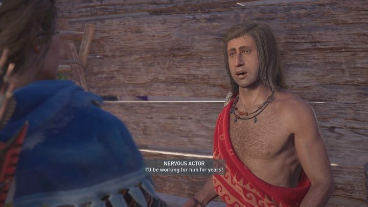 Your next task is to find actors - The Show Must Go On - Side Quests in Assassins Creed Odyssey - Free DLC Side Quests - Assassins Creed Odyssey Guide
