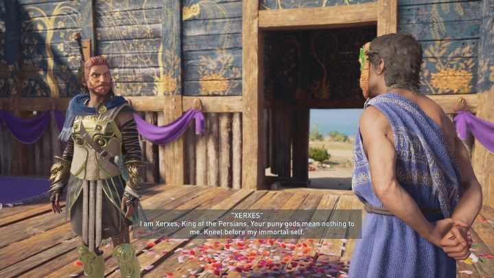 Proceed to the stage to take part in the play - The Show Must Go On - Side Quests in Assassins Creed Odyssey - Free DLC Side Quests - Assassins Creed Odyssey Guide
