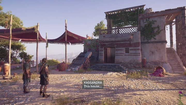 You have to go with Darius descendant to their old home - Calm Before the Storm | Assassins Creed Odyssey Walkthrough - Episode 2 - Shadow Heritage - Assassins Creed Odyssey Guide