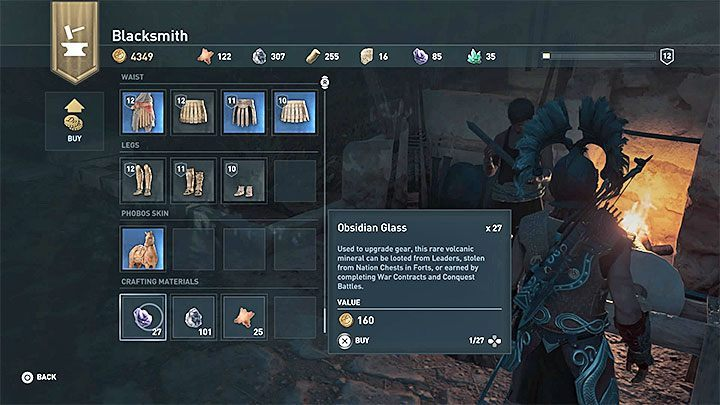 Another general way of getting resources is to buy them at a blacksmith - How to get crafting materials in Assassins Creed Odyssey Game? - FAQ - Assassins Creed Odyssey Guide