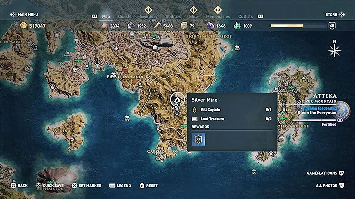 A unique place to obtain large amounts of crafting materials (including those raw materials that are less common in the game) is the Silver Mine, which is located in the Attika region in the central part of the map of the world - How to get crafting materials in Assassins Creed Odyssey Game? - FAQ - Assassins Creed Odyssey Guide