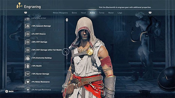 An essential part of constructing this build is to select the right engravings, so that you can deal as much stealth kill damage as possible - Passive assassin build in Assassins Creed Odyssey - Best builds - Assassins Creed Odyssey Guide