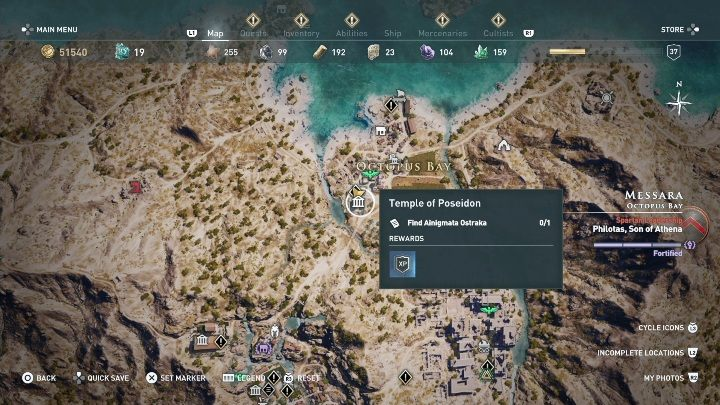 1 - Ainigmata Ostraka on Messara in Assassins Creed Odyssey - Ainigmata Ostraka - Assassins Creed Odyssey Guide