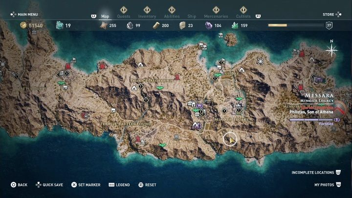 2 - Ainigmata Ostraka on Messara in Assassins Creed Odyssey - Ainigmata Ostraka - Assassins Creed Odyssey Guide