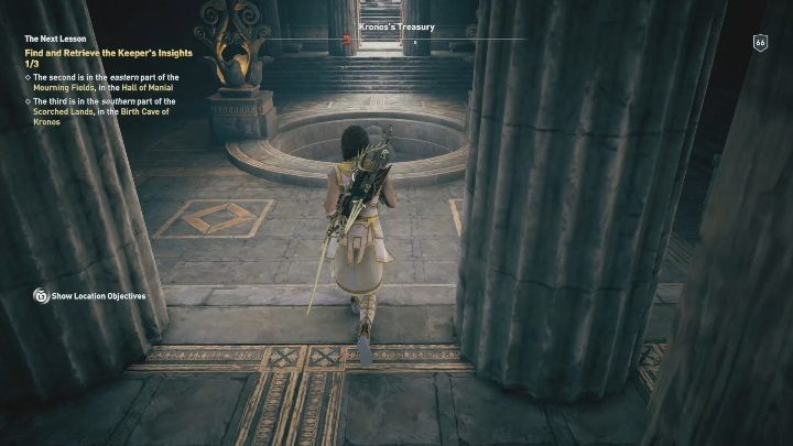 The entrance to this location is in the Kronoss Treasury - Birth Cave of Kronos | Perception of Hermes missions in AC Odyssey - Perception of Hermes - Assassins Creed Odyssey Guide