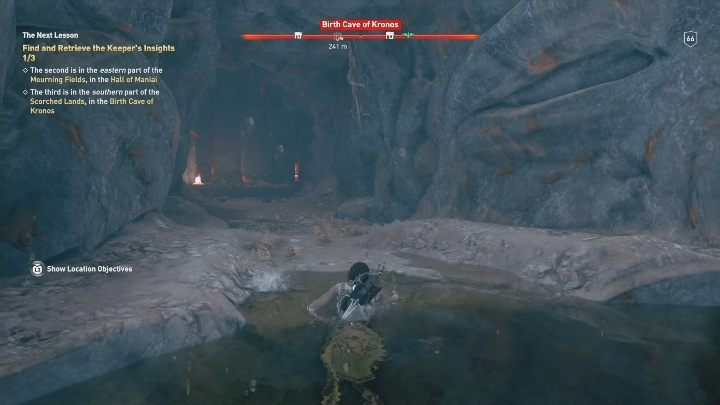Immediately resurface and move along the way - Birth Cave of Kronos | Perception of Hermes missions in AC Odyssey - Perception of Hermes - Assassins Creed Odyssey Guide
