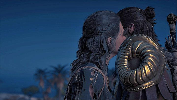Return to the rebels cave and accept the Bleeding Hearts and Stolen Money side quest from Kyra - Kyra - Romances in Assassins Creed Odyssey - Romances - Assassins Creed Odyssey Guide