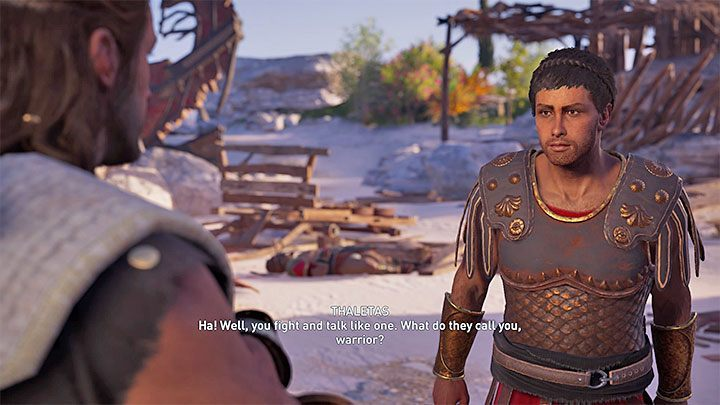 From Barnabas you will receive tips on the possible hiding place of the rebels - Thaletas - Romances in Assassins Creed Odyssey - Romances - Assassins Creed Odyssey Guide