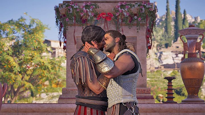 Locate Thaletas on the island of Delos to report back to him - Thaletas - Romances in Assassins Creed Odyssey - Romances - Assassins Creed Odyssey Guide