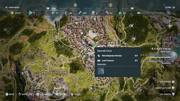 3 - Korinthia - Ainigmata Ostraka in Assassins Creed Odyssey Game - Ainigmata Ostraka - Assassins Creed Odyssey Guide